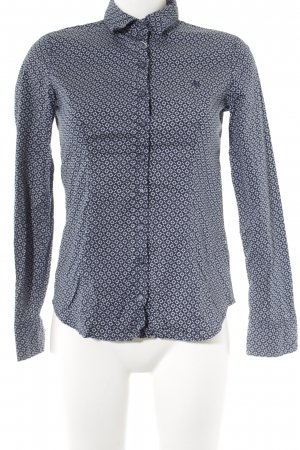 Marc O'Polo Hemd-Bluse dunkelblau-weiß grafisches Muster Casual-Look
