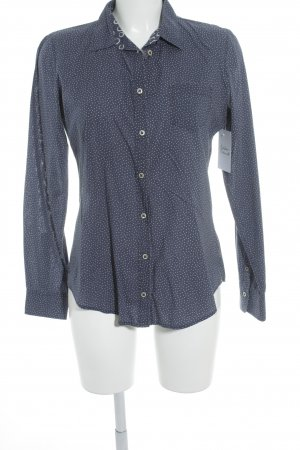 Marc O'Polo Hemd-Bluse dunkelblau-weiß Punktemuster Casual-Look