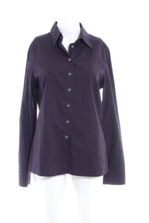Marc O'Polo Hemd-Bluse dunkelviolett Business-Look