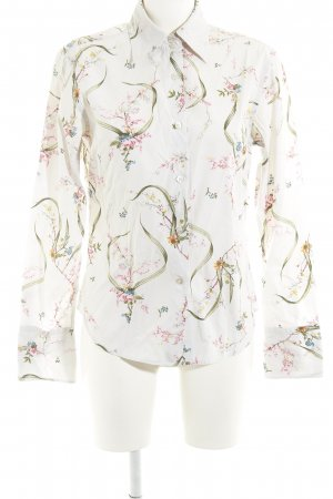 Marc O'Polo Hemd-Bluse hellgrau florales Muster Casual-Look