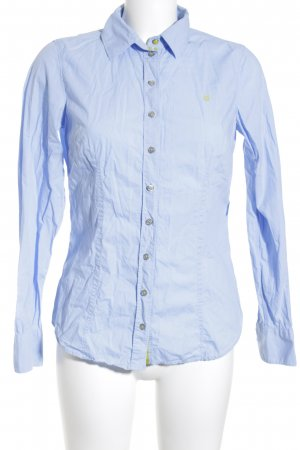 Marc O'Polo Hemd-Bluse himmelblau-neongrün Business-Look