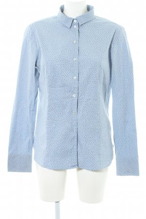 Marc O'Polo Hemd-Bluse himmelblau Punktemuster Casual-Look