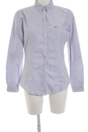 Marc O'Polo Hemd-Bluse himmelblau-weiß Streifenmuster Casual-Look