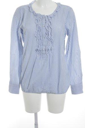 Marc O'Polo Hemd-Bluse himmelblau-wollweiß Streifenmuster