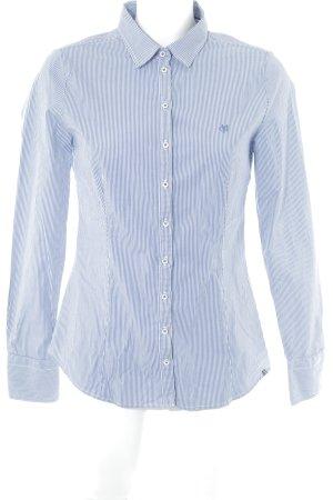 Marc O'Polo Hemd-Bluse kornblumenblau-weiß Streifenmuster Business-Look