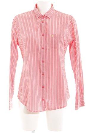 Marc O'Polo Hemd-Bluse lachs-blassgelb Streifenmuster Casual-Look