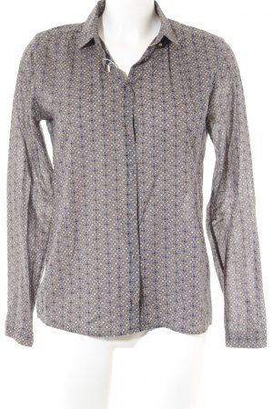 Marc O'Polo Hemd-Bluse limettengelb-petrol grafisches Muster Casual-Look