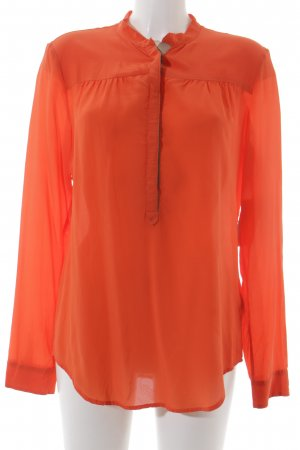 Marc O'Polo Hemd-Bluse neonorange-graugrün Business-Look