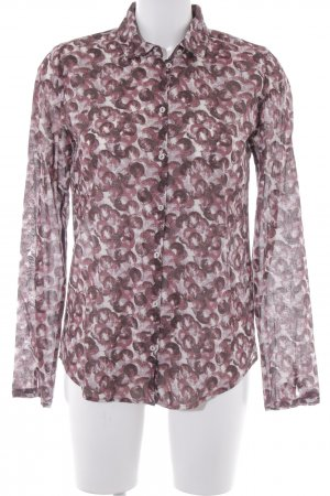 Marc O'Polo Hemd-Bluse purpur grafisches Muster Casual-Look