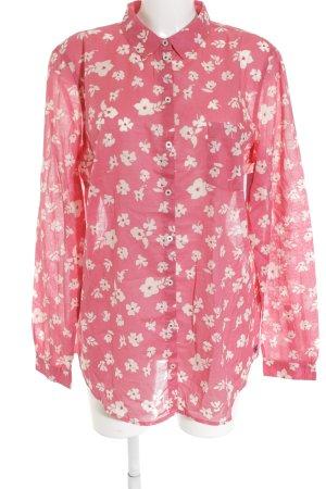 Marc O'Polo Hemd-Bluse rosa-creme Blumenmuster Beach-Look