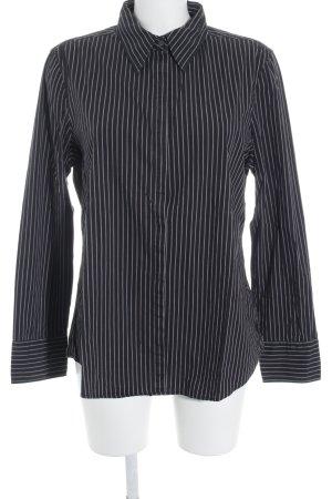 Marc O'Polo Hemd-Bluse schwarz-creme Streifenmuster Business-Look