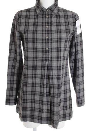 Marc O'Polo Hemd-Bluse schwarz-grau Karomuster Casual-Look