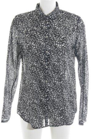 Marc O'Polo Hemd-Bluse schwarz-weiß abstraktes Muster extravaganter Stil