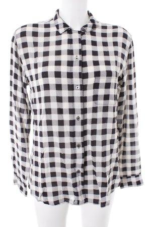 Marc O'Polo Hemd-Bluse schwarz-wollweiß Karomuster Casual-Look