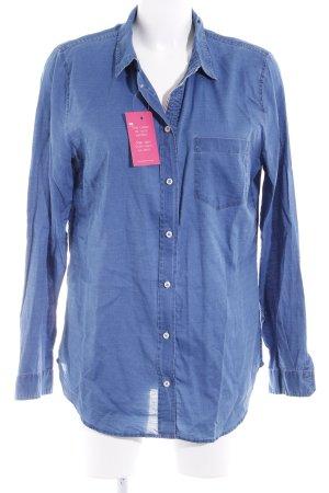 Marc O'Polo Hemd-Bluse stahlblau Jeans-Optik