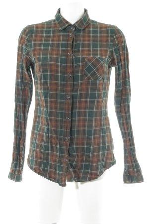 Marc O'Polo Hemd-Bluse waldgrün-cognac Glencheckmuster Casual-Look