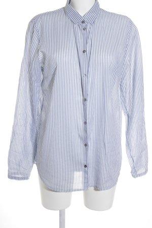 Marc O'Polo Hemd-Bluse weiß-blassblau Streifenmuster Casual-Look