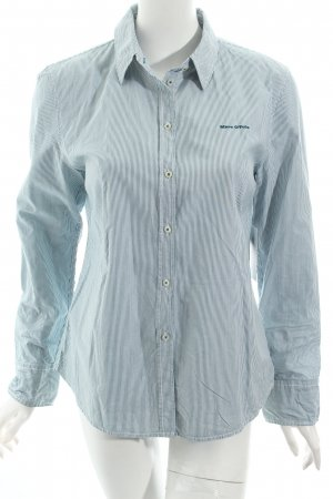 Marc O'Polo Hemd-Bluse weiß-blau Streifenmuster Business-Look