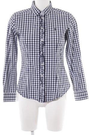 Marc O'Polo Hemd-Bluse weiß-dunkelblau Karomuster