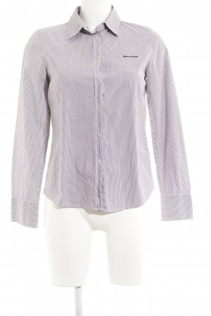 Marc O'Polo Hemd-Bluse weiß-dunkelbraun Streifenmuster Casual-Look