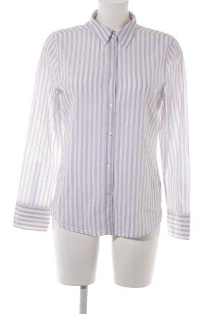 Marc O'Polo Hemd-Bluse weiß-graubraun Streifenmuster Business-Look