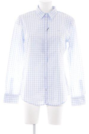 Marc O'Polo Hemd-Bluse weiß-himmelblau Karomuster Business-Look