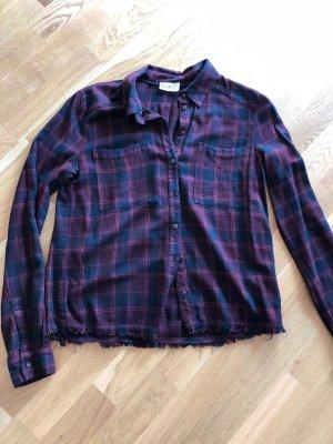 Marc O'Polo Hemd - dunkelrot - mit stylischen Franzen