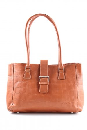 Marc O'Polo Henkeltasche hellorange Animalmuster Business-Look