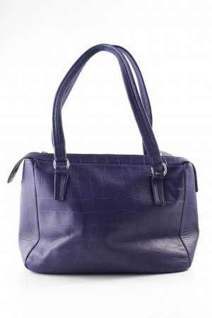 Marc O'Polo Carry Bag blue violet animal pattern reptile print