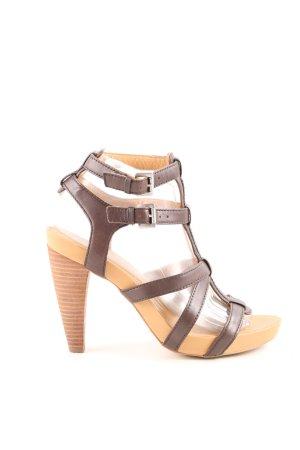 Marc O'Polo High Heel Sandaletten braun-wollweiß Casual-Look