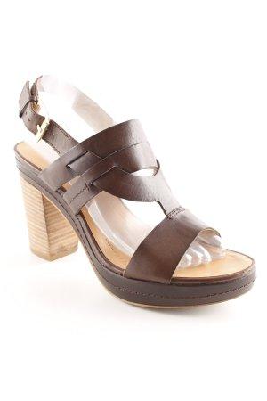 Marc O'Polo High Heel Sandaletten braun Casual-Look