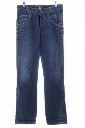 Marc O'Polo Hoge taille jeans donkerblauw casual uitstraling
