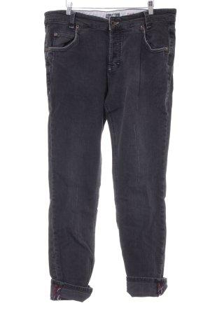 Marc O'Polo High Waist Jeans dunkelgrau Karomuster Casual-Look