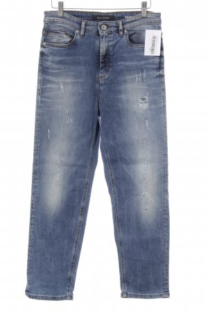 Marc O'Polo High Waist Jeans kornblumenblau Destroy-Optik