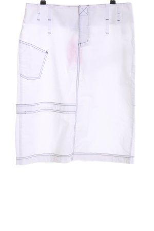 Marc O'Polo Jupe taille haute blanc style décontracté
