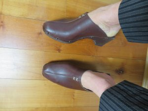 Marc O'Polo Heel Pantolettes brown leather