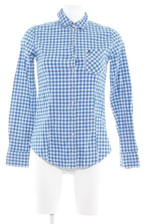 Marc O'Polo Holzfällerhemd blau-weiß Karomuster Country-Look