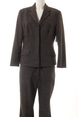 Marc O'Polo Tailleur-pantalon gris foncé-blanc moucheté style d'affaires