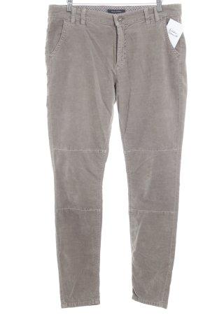 Marc O'Polo Lage taille broek mauve-beige simpele stijl