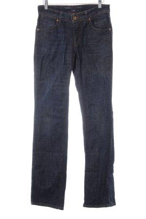 Marc O'Polo Hüfthose dunkelblau Jeans-Optik