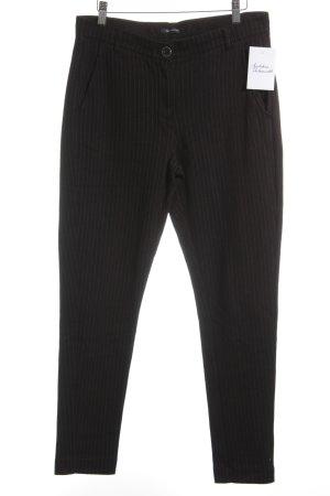 Marc O'Polo Hüfthose schwarz-grau Streifenmuster Business-Look