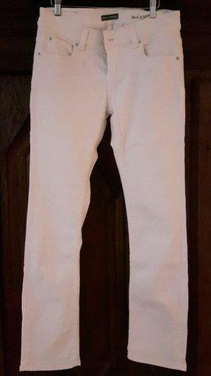 Marc O'Polo Jeans a gamba dritta bianco