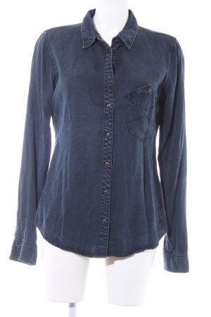 Marc O'Polo Jeansbluse dunkelblau schlichter Stil