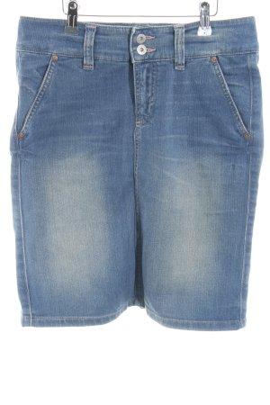 Marc O'Polo Denim Skirt blue-steel blue color gradient jeans look