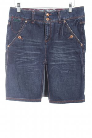 Marc O'Polo Jeansrock dunkelblau-blassblau Washed-Optik