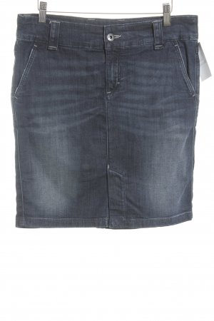 Marc O'Polo Gonna di jeans blu scuro stile casual
