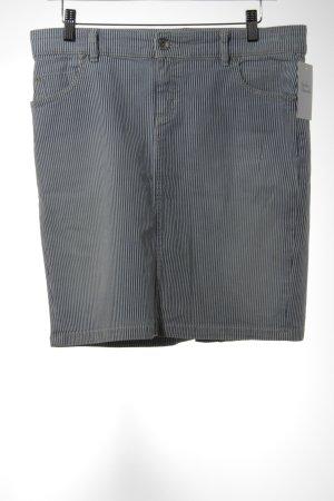 Marc O'Polo Jeansrock stahlblau-weiß Streifenmuster Casual-Look