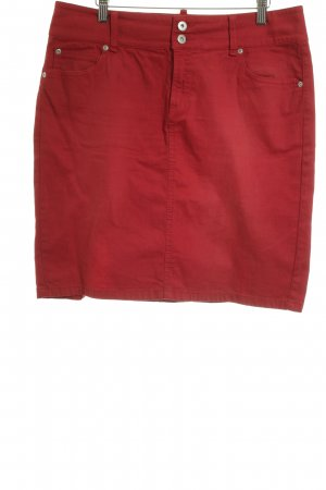 Marc O'Polo Jeansrock ziegelrot Casual-Look