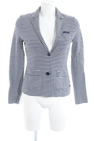 Marc O'Polo Jersey blazer wolwit-blauw gestreept patroon simpele stijl