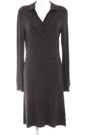 Marc O'Polo Jerseykleid schwarz-grau Allover-Druck Elegant